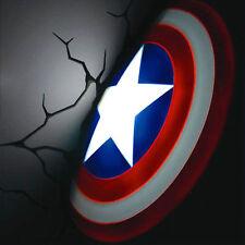 Marvel Avengers Captain America Shield Deco Wall LED Night Light Christmas Gift