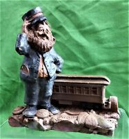 "VINTAGE TOM CLARK GNOME TRAIN SERIES ""PULLMAN"" CREATED 1988 RETIRED 1995"
