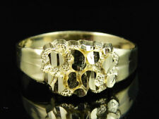 Men's Real 10K Yellow Gold Nugget Style Custom Designer Fancy Pinky Ring