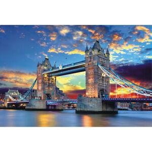 75 X 50cm 1000 Pieces Paper Jigsaw Puzzles Tower Bridge Assembling Picture