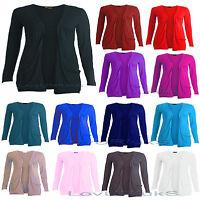 Girls Kids Children Plain Fashion Open Boyfriend Cardigan Top Size 5-13 Years