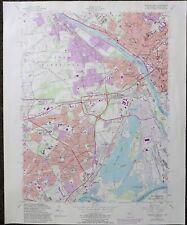 1981 US Geological Survey Map Trenton NJ West Quadrangle Levittown Yardley PA
