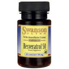 RESVERATROL 50 SWANSON 30 CAPSULES  50mg  ANTI- AGEING MEMORY ANTIOXIDANT