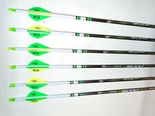 @NEW@ 6 Easton Axis N-Fused 400 Carbon Hunting Arrows! Crested & Blazer Vanes