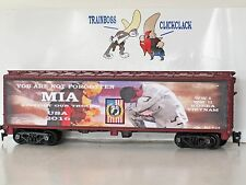 Ho Custom Lettered Mia Support Our Troops Freight Car Boxcar Reefer. Lot 6