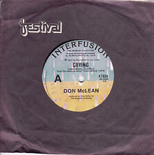 DON McLEAN Crying / Genesis (In the Beginning) 45 - Orbison