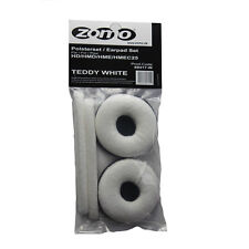 Sennheiser HD25 / HD 25 SP Velour Teddy White Replacement Ear Pad Set By Zomo