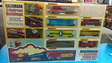Rare 1973 Bachmann HO Scale Electric Train Set With Buildings Sealed HTF Set