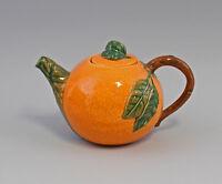 9918631 Jug Mug Gift Jar Tea Pot Orange Ceramics Majolika Portugal