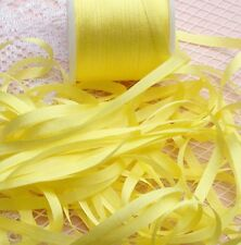"100%SILK EMBROIDERY RIBBON 1/4""[7MM] SUN/YELLOW  COLOR   10 YDS"