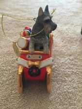 2006 Danbury Mint 1st Annual Santa's Helper Mini Schnauzer Christmas Ornament
