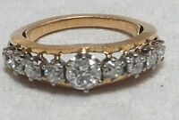 Antique Diamond 18ct Gold Platinum Ring