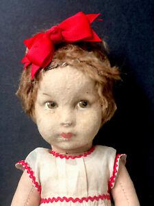 "Antique (?) 13"" Lenci (?) Cloth Doll"