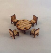 Furniture MDF 28mm Table and Chairs Tombstone Desperado Legends of the Old West