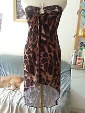 Sexy robe bustier leopard asymetrique TU