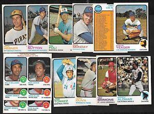 1973 OPC O PEE CHEE TOPPS MLB BASEBALL CARD 1-132 SEE LIST