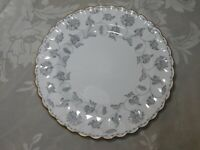 "SPODE COPELAND CHINA 8"" SALAD PLATE COLONEL GRAY FLORAL DESIGN GOLD TRIM ENGLAND"