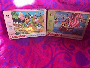 60s Rare Walt Disney Disneyland Mickey Donald Vintage 100 Piece Jigsaw Puzzles