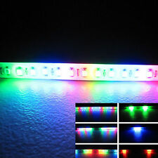 2x RGB 32-SMD Mini LED Scanner Knight Rider Lighting Strip For Car Interior