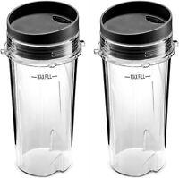(2 Pack) - Ninja Mega Kitchen System Blender 16 Oz Cup Single-Serve replacement