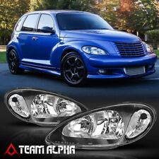Fits 2001-2005 Chrysler PT Cruiser[Black/Clear]Crystal Corner Headlight Headlamp