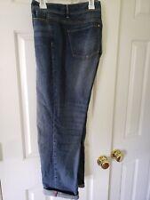 J. Jill Straight Fit Slim Boyfriend Blue Medium Wash Jeans Size 14P Excellent Co