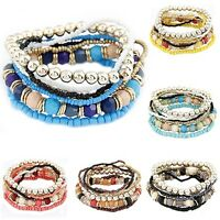 Bohemian Hippy Jewelry Multi Bead Bracelet Bangle Boho Fashion Indie Surf