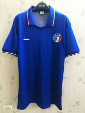 vintage soccer jersey retro 1990 Italy National Team Home shirt