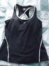 Woman's size Large Black Reebok with White Trim Athletic  Play Dry Top