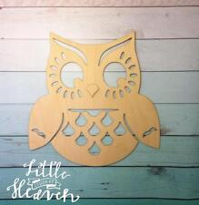DIY Owl Bird Unfinished Wood Shapes Cut Out Crafts Owl decor plaque gift