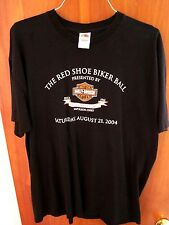 HARLEY-DAVIDSON Red Shoe Biker Ball 04 motorcycle T shirt XXL Ohio Napoleon 2XL