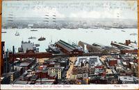 "1906 Postcard: ""American Line"" Boat Docks, Fulton Street - New York City NY"