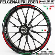 Felgenrandaufkleber GP Tricolore Italien Italy Motorrad Aufkleber rot weiß grün