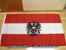 Fahnen Flagge Österreich mit Wappen - 90 x 150 cm