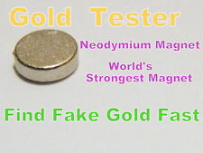 Rare Earth Neodymium Magnet 10mm x 2mm -Testing Scrap Gold,Silver,Coin Dealer
