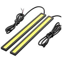 2 x Waterproof Super Bright Car DRL Fog Driving Lamps COB LED Light White A Q6Q0