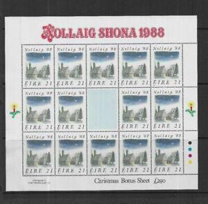 IRELAND 1988 21p Christmas Sheetlet MINT MNH has been folded along perfs