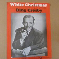 song sheet WHITE CHRISTMAS Bing Crosby