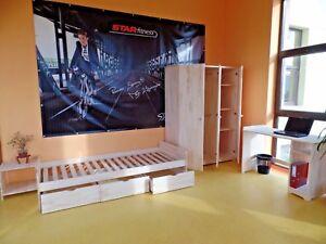 Kinderzimmer Jugendzimmer komplett Schrank Schreibtisch Bett Nachttisch MASSIV
