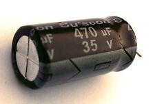 [5pcs] 470uF 35v Electrolytic Capacitor, Su'scon (Taiwan) MG 105°C -ref:163