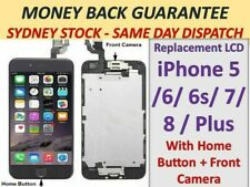 For iPhone 6s 5s Plus 6 + LCD Screen Replacement Display + Camera + Home Button