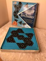 TRI-OMINOS BRILLIANT VINTAGE TILE GAME BY IDEAL 1968 COMPLETE WITH ALL PIECES