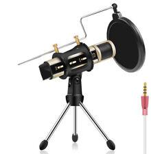 PC/Phone Mini Microphone, Professional Studio for Karaoke Singing Recording Mic