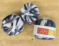 Tape Knitting Yarn-120g Greys-KING COLE-Tapestry Fancy Ribbon-Spinning-Craft-BX6