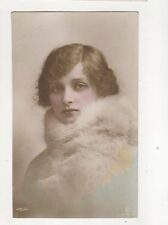 Gladys Cooper Actress [A155-3] Vintage Hand Painted RP Postcard 217b