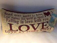 Head Over Heels In Love Word Pillow