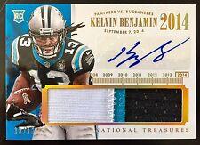 2014 National #KB Kelvin Benjamin Autograph 3 Patch RC 13/15 (Jersey #) Panthers