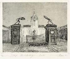 Berlín-castillo Charlottenburg-christian heinze-aquatinta 1995