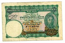 Malaya … P-3 … 25 Cents … 1-Sep-1940 … *F+*