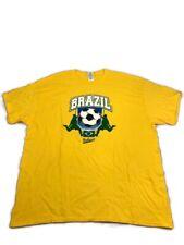Gildan Mens Brazil Soccer Yellow Short Sleeve Shirt Size-XL (b)